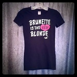 Hollister, Brunette is the New Blonde Tshirt, XS